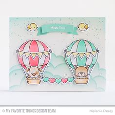 Up in the Air Stamp Set and Die-namics, Tag Builder Blueprints 5 Die-namics, Stitched Cloud Edges Die-namics - Melania Deasy  #mftstamps
