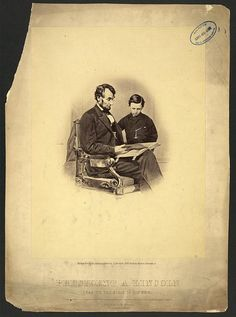 Lincoln reading Bible to son