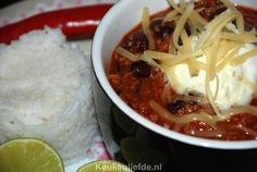 Chili con Carne - Küche ♥ Liebe - Famous Last Words Weekly Menu Planning, Spicy, Oven, Soup, Dinner, Wow Factor, Recipes, Foodies, Chili Con Carne