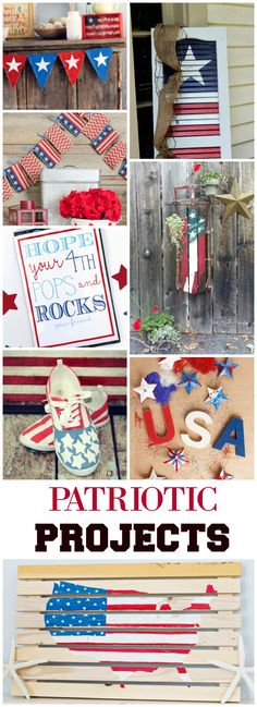 Fun patriotic projects to make with the kids! Show your spirit this 4th of July! #DIYProjects #July4th