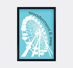 Modern Ferris Wheel Art Print home decor Print by moderngenes, $15.00