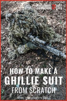Want to learn how to make a ghillie suit? Check this tutorial out before you decide to buy a brand new one. It's fairly easy to put together plus having your DIY ghillie suit won't break the bank! #ghilliesuit #survivalskill #survivalhacks #survivaltips #survival #survivallife Survival Life, Wilderness Survival, Survival Gear, Survival Skills, Ghillie Suit, Tactical Gear, Hiking Boots, Life Hacks, Suits