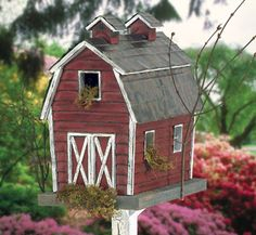Rustic Birdhouse Designs | Birdhouse Wood Patterns - Rustic Barn Birdhouse Wood Plan