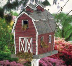 Rustic Birdhouse Designs | Birdhouse Wood Patterns - Rustic Barn Birdhouse Wood Plan