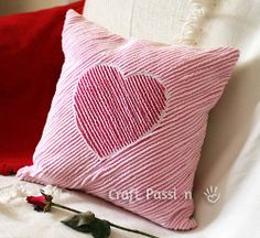 Chenille Heart Pillow. how your couch some love this Valentine's Day with the Chenille Heart Pillow. Learn how to sew a pillow with chenille detailing that will add romantic charm to your home decor. It's one of those Valentine's day sewing projects you'll fall in love with!