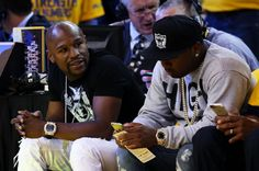 Floyd Mayweather at Game One of the 2015 NBA Finals