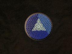 Steven Universe: Sapphire gem perler beads by Hector Luis Dominguez