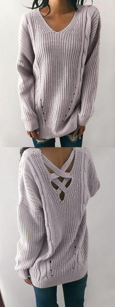 Kiesla - Knit Back Sweater - Fray.  Money-back Guarantee + Free Shipping <3