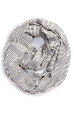 5427b09ac1dba La Double 7 Stitch Stripe Infinity Scarf Womens Scarves