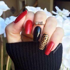 panterka z czernią i czerwienią