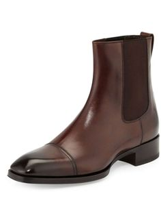 Gianni leather Chelsea boot,brown