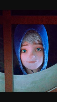 What jack frost looks like upright from looking upside down from jamie's window