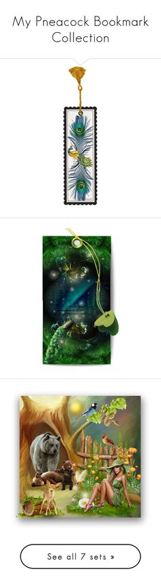 """""""My Pneacock Bookmark Collection"""" by m-aviles-ma ❤ liked on Polyvore featuring art, artset, artexpression, peacock and bookmarks"""