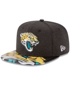 New Era Jacksonville Jaguars 2017 Draft 9FIFTY Snapback Cap - Black/Teal Adjustable