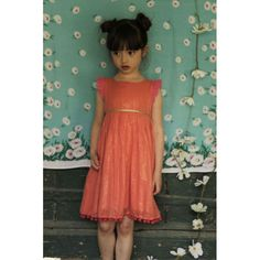 Lampshade Dress - Coral - Dresses - Girls