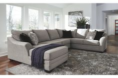 Sole Oversized Modern Gray Fabric Sofa Couch Sectional Set After College Sofa