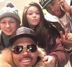 Chris Brown with Fans
