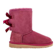 Girls' UGG Bailey Bow Big Kids Boot Bougainvillea