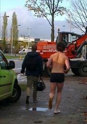 Actie: KilometersVoorCongo, Hardlopen in onderbroek!