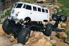 Custom VW Bus Radio Controlled Rock Crawler by www.donegoodrc.com
