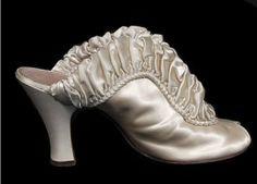 Daniel Greene satin boudoir slippers, 1939.