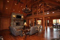 Southland Log Home Photos & Pictures | Longleaf Lodge 014