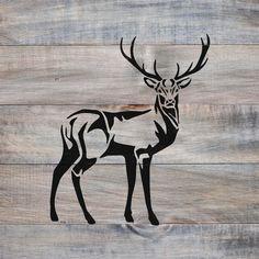 Deer Stencil - Reusable DIY Craft Stencils of a Buck Deer - Deer Stencil – Reusable DIY Craft Stencils of a Buck Deer Best Picture For diy furniture For Yo - Wood Burning Stencils, Wood Burning Crafts, Wood Burning Patterns, Wood Burning Art, Stencil Wood, Stencil Patterns, Stencil Designs, Stencil Animal, Deer Head Stencil