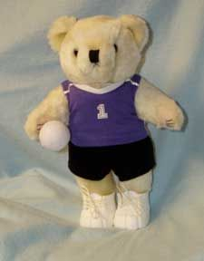 Elegant Volleyball Bear, Made To Look Like School Uniform