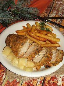 Katalin konyhája: Ananászbundás csirkemell Steak, Pork, Food And Drink, Chicken, Cake, Recipes, Fine Dining, Kale Stir Fry, Kuchen