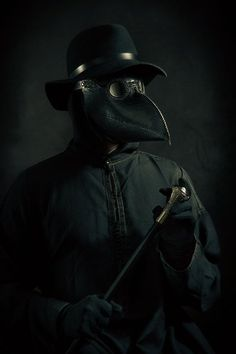 Steampunk - Leather plague doctor mask by MaestroLeatherMasks Plague Mask, Plague Doctor Mask, Plague Dr, Black Plague Doctor, Plauge Doctor, Historical Concepts, Horror Drawing, Doctor Costume, Raven Art
