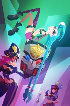Officer Vi, Officer Caitlyn, and Jinx