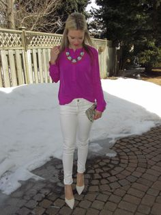 The Neon Blouse/ Ily Couture Necklace! http://sincerelymissashley.blogspot.ca http://instagram.com/sincerelymissash