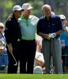 Gary Player, left, Jack Nicklaus and Arnold Palmer