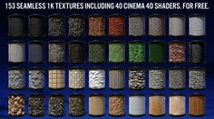 Free Cinema 4D environment shaders.