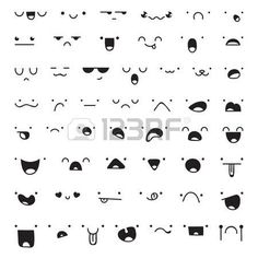 expressions: Set of 52 different pieces of doddle emotions to create characters…