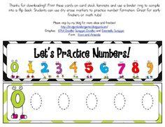Number Tracing Mini Flip Book