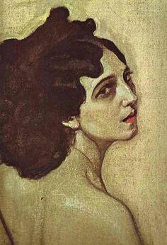 Valentin Serov - Portrait ofIda Rubinstein, Detail