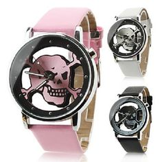 'Hollow Skull Style Watch (Black)' is going up for auction at  3pm Fri, Aug 16 with a starting bid of $1.