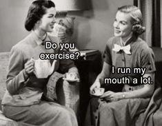 Metal Fridge Magnet Women Do You Exercise No Run Mouth A Lot Humor Funny