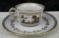 Vintage Richard Ginori Fiesole Italian Porcelain Demitasse Cup & Saucer