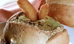 Receita de Sopa no pão - Sopa e caldo - Dificuldade: Fácil
