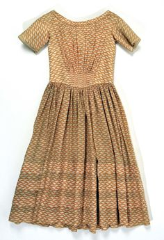 1840 Child's dress American cotton.