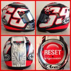 Hayden's new Helmet. (motogp facebook).