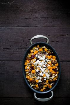 Butternut Squash Cranberry Sorghum Salad - a healthy, gluten-free, flavorful fall dish.