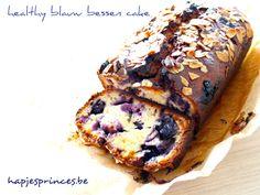 Gezonde blauw bessen cake. Tagatesse vervangen door honing of stevia