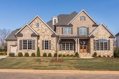 Dream House Exterior, Dream House Plans, House Floor Plans, Luxury Homes Dream Houses, Dream Homes, Traditional Home Exteriors, French Country House Plans, Suburban House, My Ideal Home