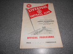 LIVERPOOL v BLACKBURN ROVERS 1957/8 NOVEMBER 23rd ~ VINTAGE PROGRAMME {my bday, must have}