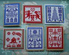 hand-made Scandinavian Christmas cards