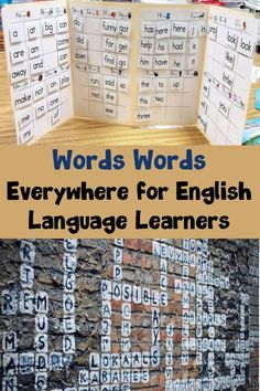 Ideas for exposing ELLs to sight words and vocabulary words around the classroom. #wordwall #labels #vocabulary #esl #englishvocabulary #esol #language