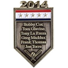 2014 Baseball Hall of Fame Induction Roster Pin